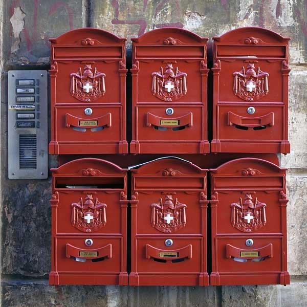 Gravur Briefkastenschilder Mietshaus Schweiz | St.Gallen Zürich