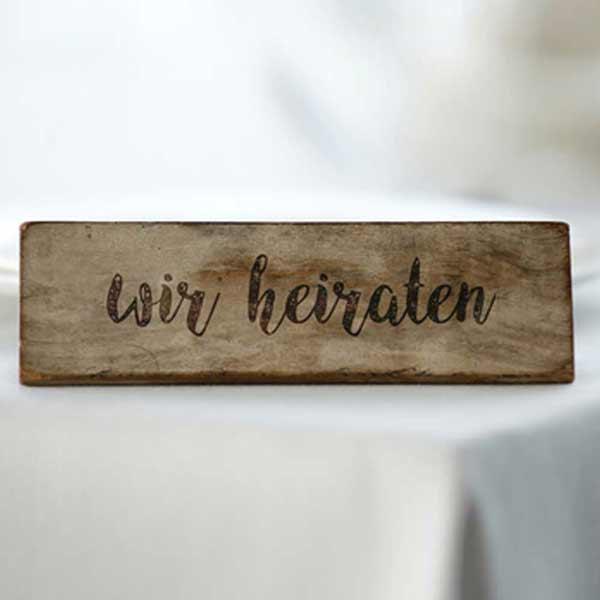 Holz Gravieren für Hochzeiten | St. Gallen / Zürich