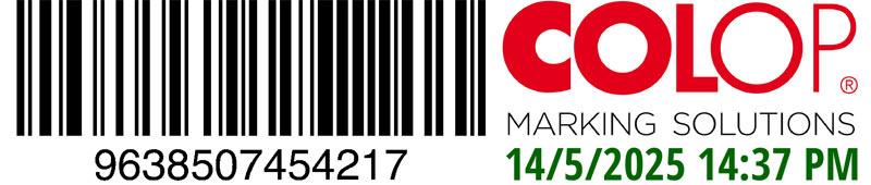 COLOP e-mark | Abdruck mit Barcode | Lebrument St. Gallen
