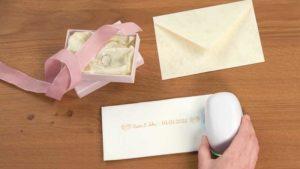 Personalisierung von Hochzeitskarten